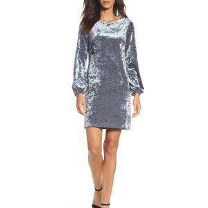 Adrianna Papell Crushed Velvet Shift Dress Sz 8
